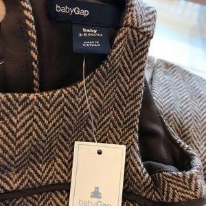 NWT - Baby Gap herringbone wool dress 3-6 mos